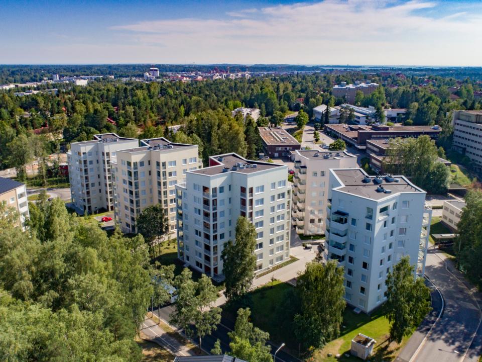 Asunto Oy Helsingin Kettukuja 4 ilmakuva Herttoniemi Helsinki