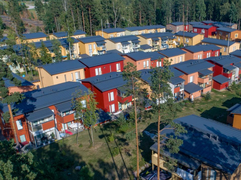 Asunto Oy Helsingin Myllykylänrinne ilmakuva