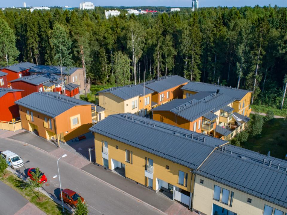 Asunto Oy Helsingin Myllynlehto ilmakuva