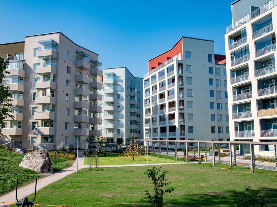 Herttoniemen torni ilmakuva Helsinki Herttoniemi